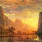 Valley in Yosemite landscape canvas art print by Bierstadt