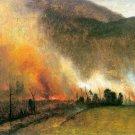 White Mountains New Hampshire I landscape canvas art print by Bierstadt