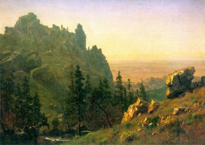 Wind River Country landscape canvas art print by Bierstadt