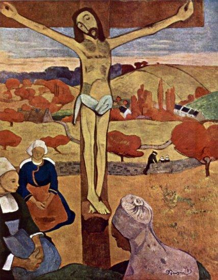 Yellow Christ Jesus Christ religious canvas art print by Paul Gauguin