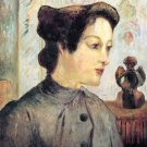 Women With Topknots woman canvas art print by Paul Gauguin