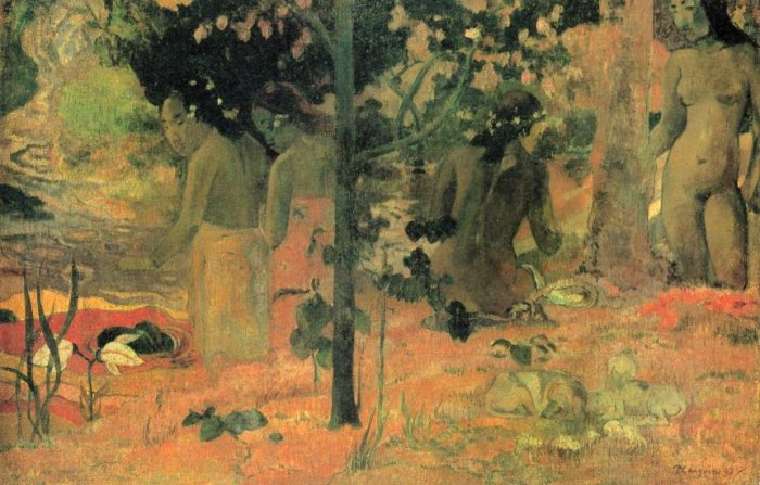 Badende women canvas art print by Paul Gauguin