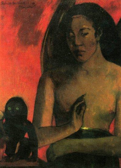 Barbaras woman canvas art print by Paul Gauguin