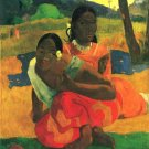 When You Hear women canvas art print by Paul Gauguin