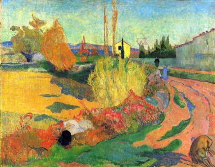 Von Arles landscape canvas art print by Paul Gauguin