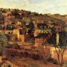 Blue Roots at Rouen cityscape canvas art print by Paul Gauguin