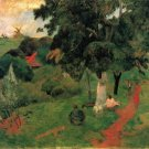 To and Fro landscape women canvas art print by Paul Gauguin