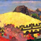 There is the Temple religious canvas art print by Paul Gauguin