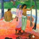 Call For Freedem waterscape landscape women canvas art print by Paul Gauguin