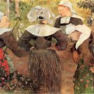 The Dance of Four 4 Women of Breton women canvas art print by Paul Gauguin