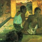 Te Rerioa woman canvas art print by Paul Gauguin