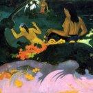 Fatata Te Mit women canvas art print by Paul Gauguin
