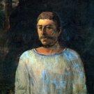 Galgotha portrait man canvas art print by Paul Gauguin