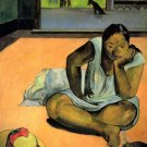 Te Faaturama woman canvas art print by Paul Gauguin