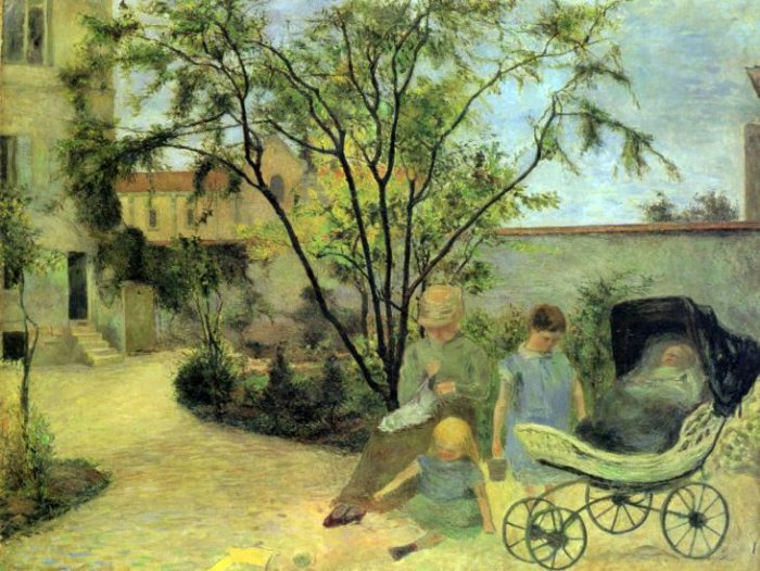 Garden in Rue Carcel landscape children canvas art print by Paul Gauguin