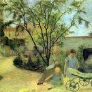 Garden in Rue Carcel landscape children canvas art print by Paul Gauguin