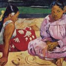 Tahitian Women on Beach canvas art print by Paul Gauguin