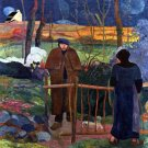 Good Day Mr. Gauguin woman men landscape canvas art print by Paul Gauguin