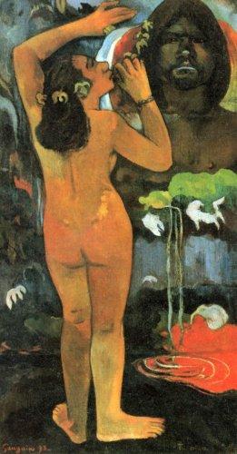 Hina Tefatau woman canvas art print by Paul Gauguin
