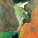 Hover Above the Abyss water landscape cow canvas art print by Paul Gauguin
