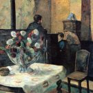 Still life Interior Painter Rue Carcel flower canvas art print Gauguin