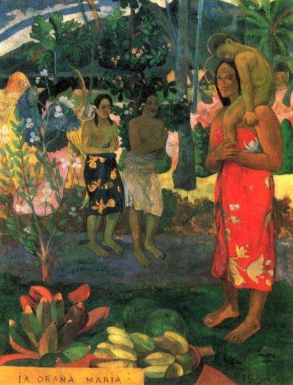 La Orana women canvas art print by Paul Gauguin