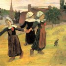 Breton Girls Dancing Pont Aven 1888 canvas art print by Paul Gauguin
