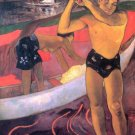 Man with Ax portrait woman canvas art print by Paul Gauguin