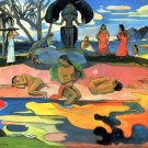 Mohana no Atua Mohana in activity women beach landscape canvas art print by Paul Gauguin