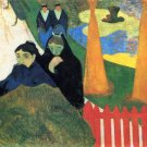 Old Maids in a Winter Garden Arles women canvas art print by Paul Gauguin