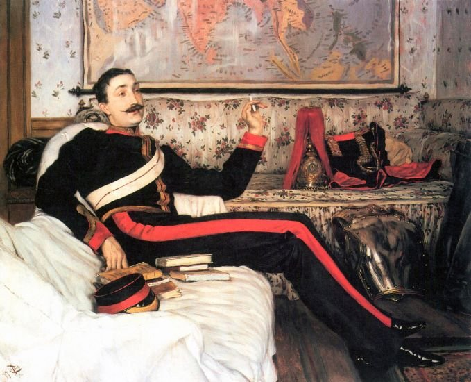 Colonel Frederick Gustavus Burnaby military man canvas art print by Tissot