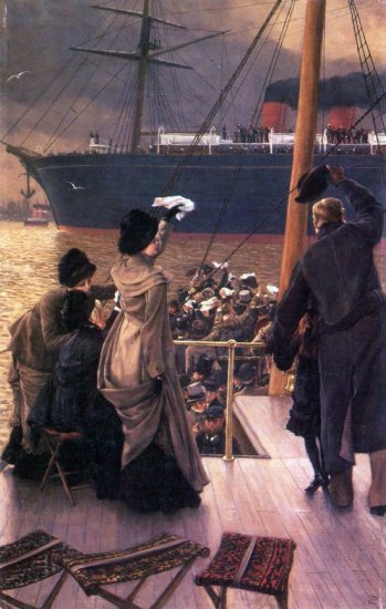Farewell to the Mersey people genre canvas art print by Tissot
