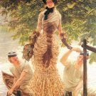 On the Thames woman canvas art print by Tissot