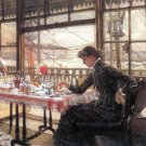 Room with a Glance from the Port woman canvas art print by Tissot
