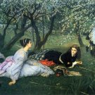 Springtime women landscape canvas art print by Tissot