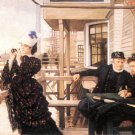The Daughter of the Master woman people cityscape canvas art print by Tissot