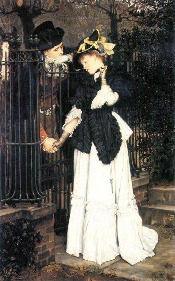 The Farewell woman canvas art print by Tissot
