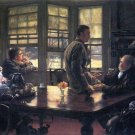 The Prodigal Son in Modern Life - The Farewell canvas art print by Tissot