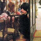 The Seller woman canvas art print by Tissot