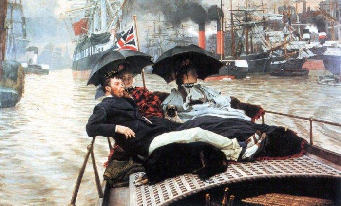 The Thames women canvas art print by Tissot
