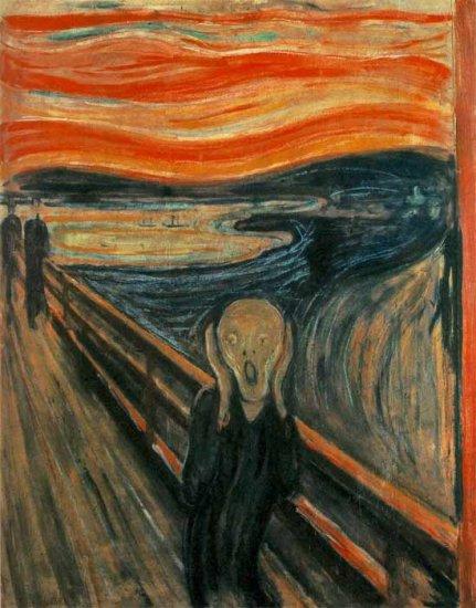 The Scream canvas art print by Edvard Munch