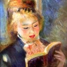 A Reading Woman 1874 A Reading Girl canvas art print by Pierre-Auguste Renoir