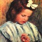A Reading Girl canvas art print by Pierre-Auguste Renoir