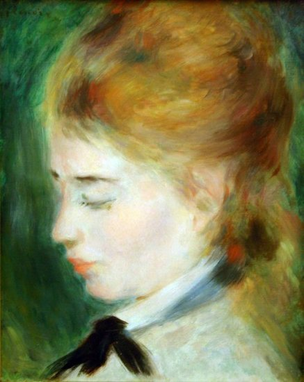 Actress Henriette Henriot woman portrait canvas art print by Pierre-Auguste Renoir