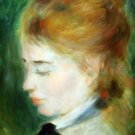 Actress Henriette Henriot woman portrait canvas art print by Pierre-Auguste Renoir