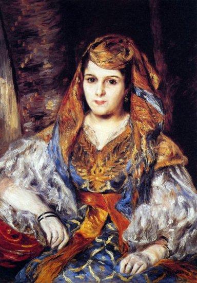 Algerian Woman 1870 canvas art print by Pierre-Auguste Renoir