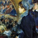 At the Theatre c. 1876 women people canvas art print by Pierre-Auguste Renoir