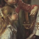 Young Girls at the Piano Detail canvas art print by Pierre-Auguste Renoir