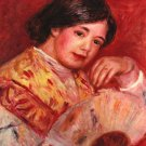 Young Girl with Fan portrait canvas art print by Pierre-Auguste Renoir