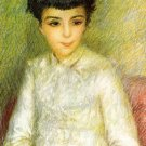 Young Girl with Brown Hair portrait canvas art print by Pierre-Auguste Renoir